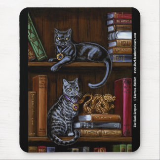 The Book Keepers Library Cat Mousepad