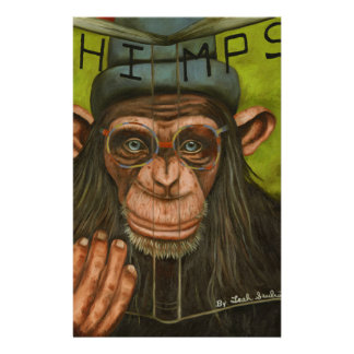 The Book Of Chimps Customized Stationery