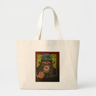 The Book Of Chimps Large Tote Bag