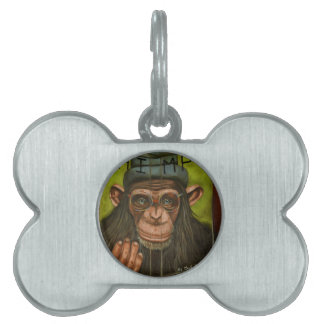 The Book Of Chimps Pet Tag