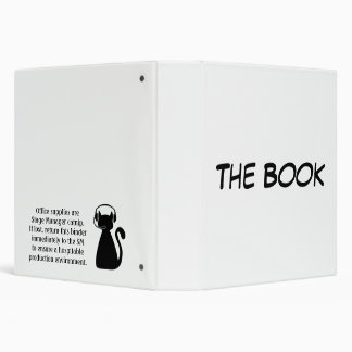 The Book: Stage Manager Catnip 3 Ring Binders
