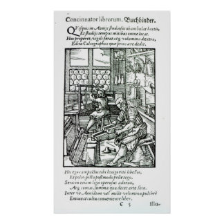The Bookbinder, published by Hartman Schopper Poster