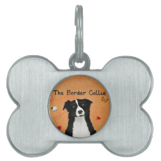 The Border Collie Name Tag Pet ID Tag