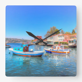 The Bosphorus Istanbul Square Wall Clock
