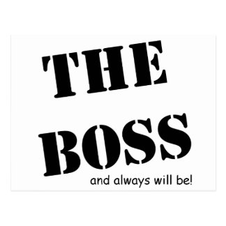 The Boss and always will be!! Range Postcard