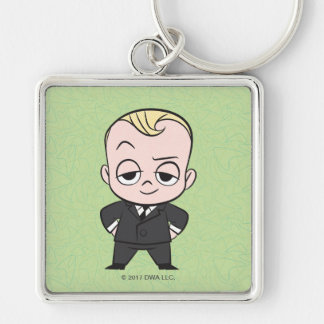 The Boss Baby   I am no Ordinary Baby Silver-Colored Square Keychain