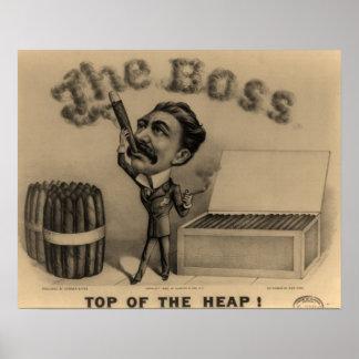 The Boss! Cigar Smoker Print
