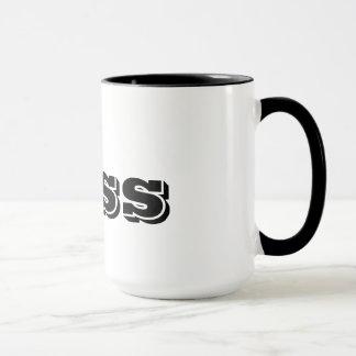 The Boss Custom Black Typography Funny Mug