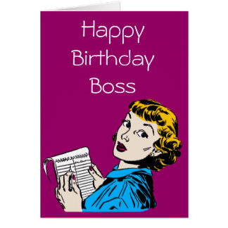 The Boss Customisable Birthday Greeting Card