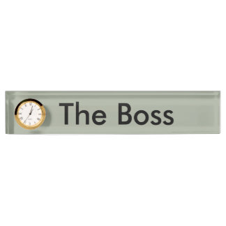 The Boss desk name panel Nameplate