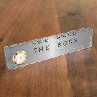 The Boss Executive Desk Name Plates
