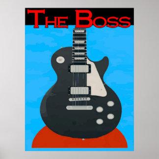 The Boss, Guitar Print