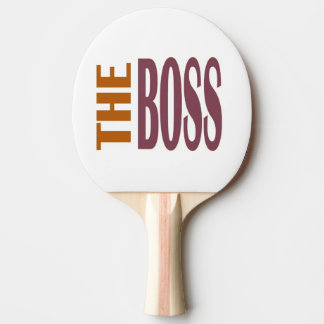 THE BOSS PING PONG PADDLE
