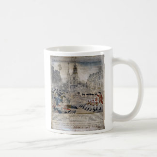 The Boston Massacre by Paul Revere 1770 Classic White Coffee Mug