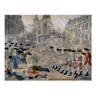 The Boston Massacre by Paul Revere 1770 Postcard