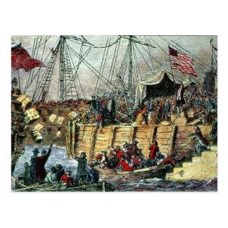 The Boston Tea Party, 16th December 1773 Postcard