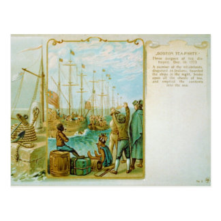 The Boston Tea Party of December 16th 1773 Postcard