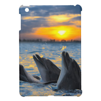 The bottle-nosed dolphins in sunset light iPad mini cover