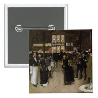 The Boulevard at Night 2 Inch Square Button