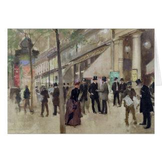 The Boulevard Montmartre Card