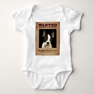 The Bouncy Boston Terrier Baby Bodysuit