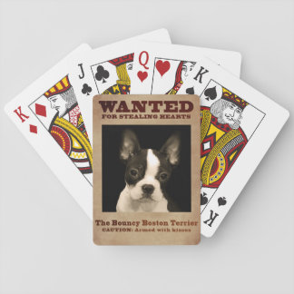 The Bouncy Boston Terrier Playing Cards