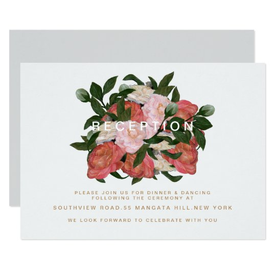 The Bouquet / Reception Card