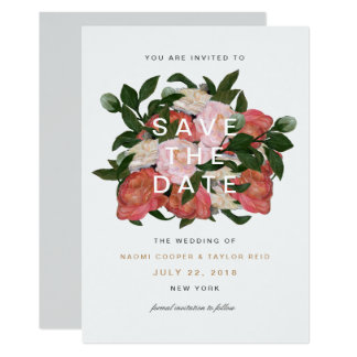 The Bouquet / Save The Date Card