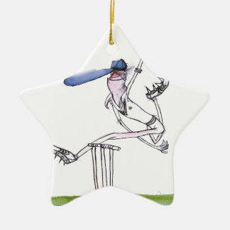 the bowler - cricket, tony fernandes ceramic star ornament