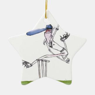 the bowler - cricket, tony fernandes christmas ornaments