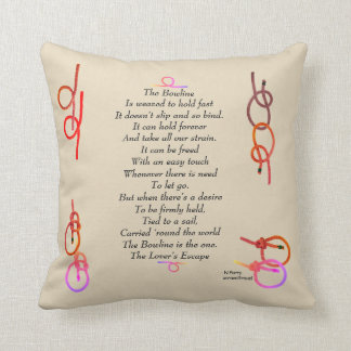 The Bowline - The Lover's Escape Throw Pillow