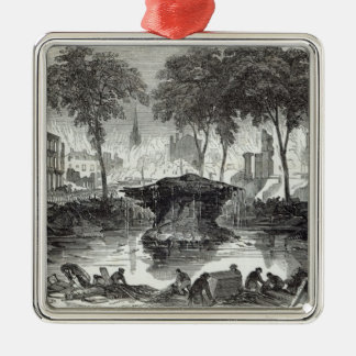 The Bowling-green and Marketfield-street, New Silver-Colored Square Ornament