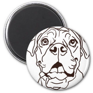 The Boxer Love of My Life 2 Inch Round Magnet