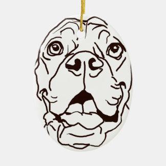 The Boxer Love of My Life Ceramic Ornament