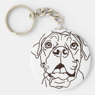 The Boxer Love of My Life Keychain