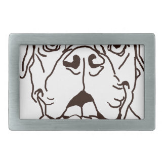 The Boxer Love of My Life Rectangular Belt Buckle