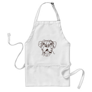The Boxer Love of My Life Standard Apron