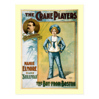 The Boy from Boston Vintage Theater Poster Postcard