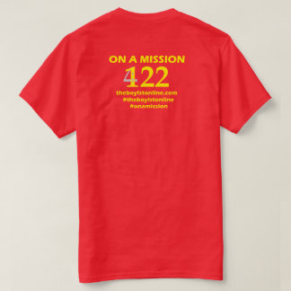 The Boylston Line Mens T-Shirt/Yellow lettering. T-Shirt