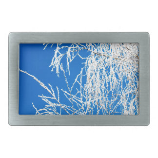 The branches of the tree during the winter rectangular belt buckles
