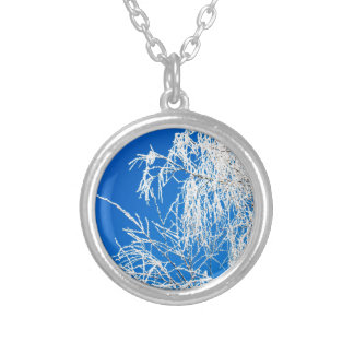 The branches of the tree during the winter silver plated necklace