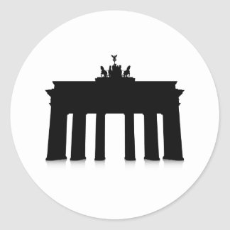 The Brandenburg Gate Classic Round Sticker