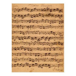 The Brandenburger Concertos, No.5 D-Dur, 1721 Postcard