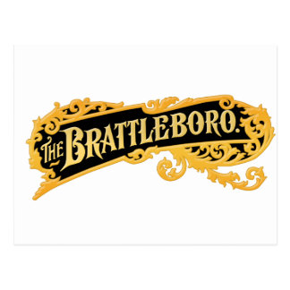 """The Brattleboro"" Logo From An Old Organ Postcard"