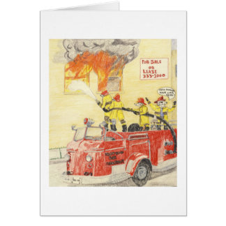 The Brave Fire Fighters Card