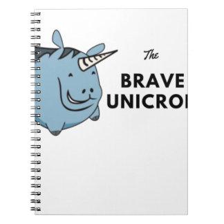 The Brave Unicorn Notebook