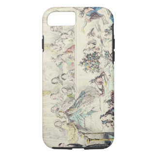 The Breach of Promise - cartoon hand coloured etch iPhone 7 Case