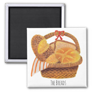 The Breads Square Magnet