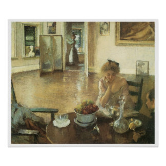 The Breakfast Room, 1903 Edmund Charles Tarbell Poster