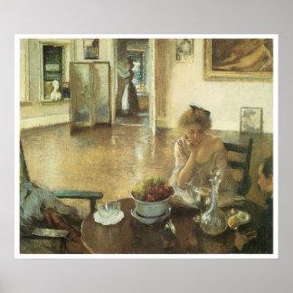 The Breakfast Room, 1903 Edmund Charles Tarbell Poster